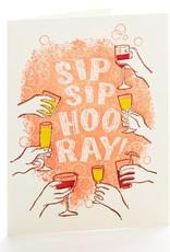 Ilee papergoods Card Sip Sip Hooray