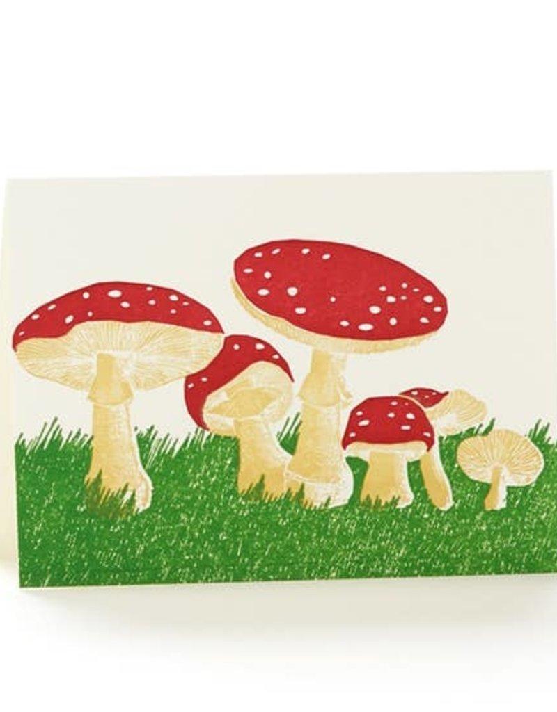 Ilee papergoods Card Mushrooms