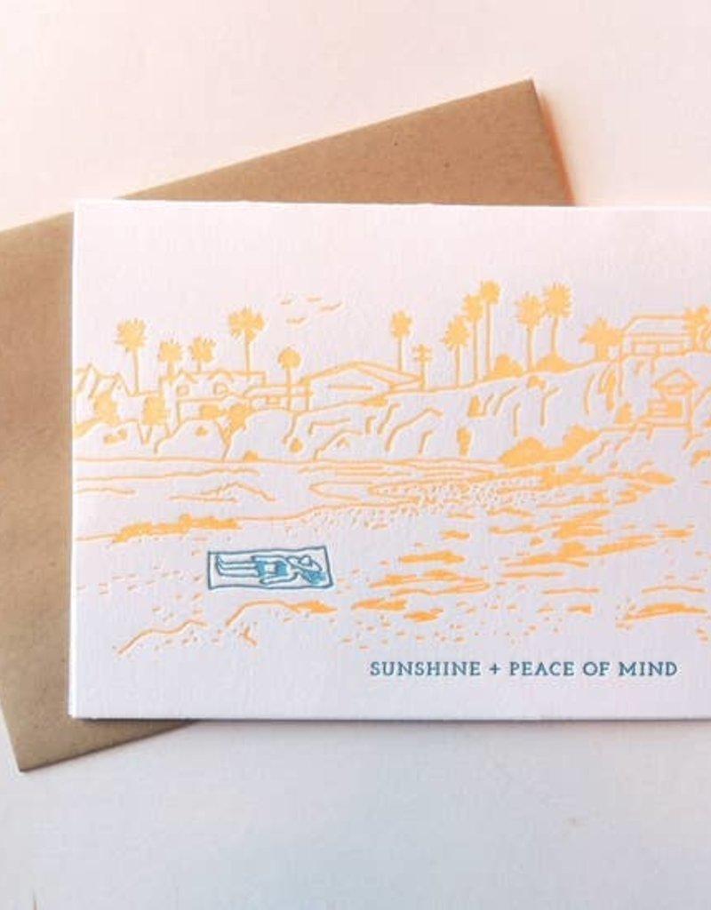 Harken Press Card Sunshine and Peace of Mind