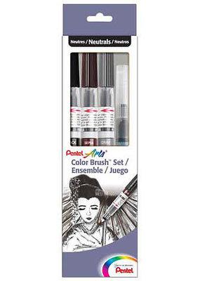 Pentel Color Brush Set of 4