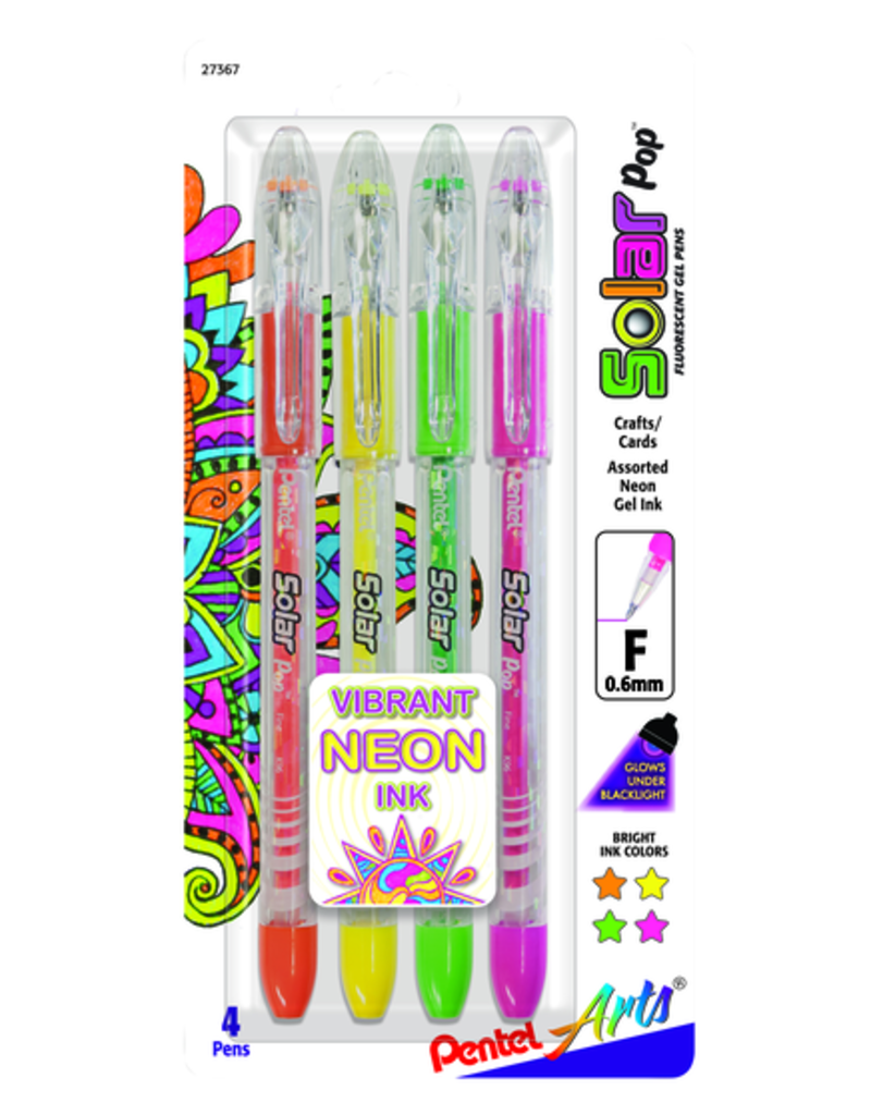 Pentel Solar Pop .6mm Set of 4 Neon
