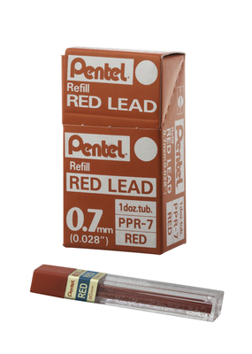 Pentel Mechanical Pencil Lead .7mm Red