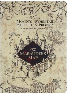 Paper House Journal Marauder's Map Lined