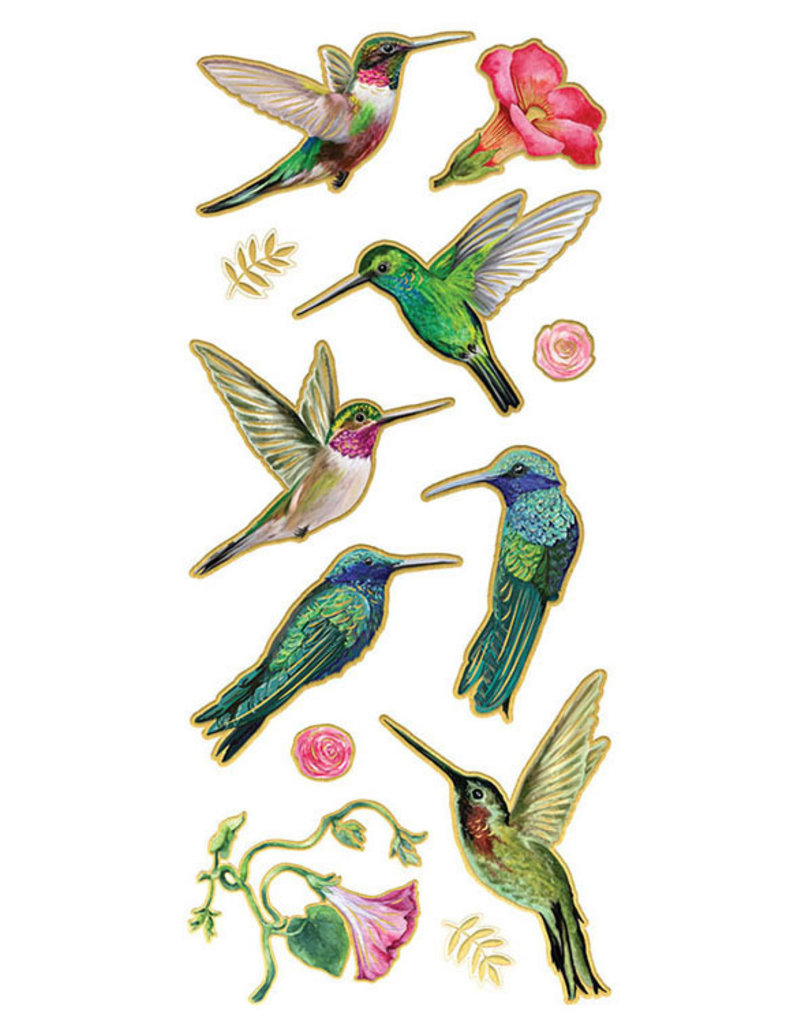 Paper House Stickers Faux Enamel Hummingbirds