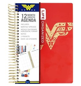 Paper House Planner 12 Month Undated Wonder Women Mini