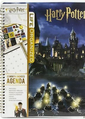 Paper House Planner 12 Month Undated Hogwarts at Night