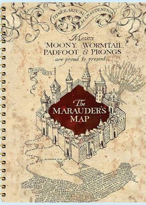 Paper House Planner 12 Month Undated Marauder's Map