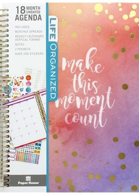 Paper House Planner Undated 18 Month Make This Moment Count