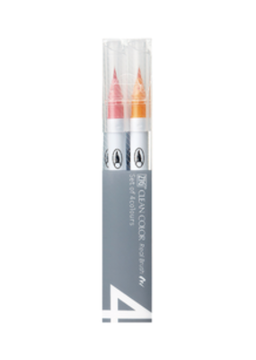 Kuretake Zig Zig Clean Color Real Brush 4 Color Pop Set