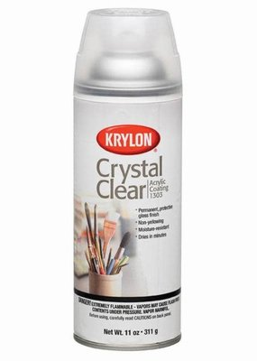Krylon Crystal Clear Acrylic Spray 11 Ounce
