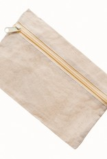 Mark Richards Zippered Pouch Canvas Natural
