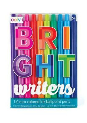 Ooly Bright Writers Colored Ballpoint Pens Set Of 10