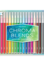 Ooly Chroma Blends Watercolor Brush Markers Set Of 18