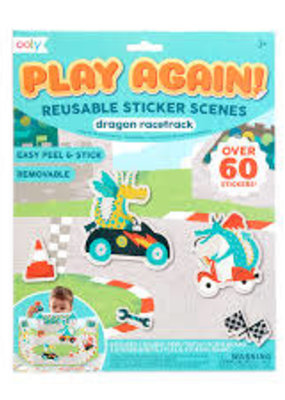 Ooly Play Again Reusable Sticker Scene Dragon Racetrack