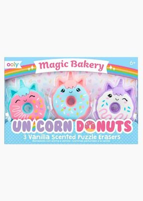 Ooly Erasers Magic Baker Unicorn Donut Scented set of 3