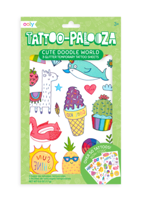 Ooly Tattoo-Palooza Cute Doodle World