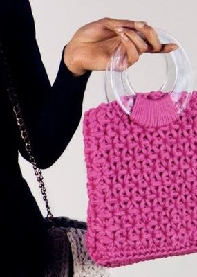 Hoooked Crochet Kit Marbella Bag Bubblegum