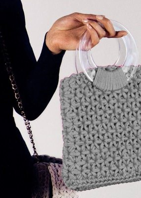 Hoooked Crochet Kit Marbella Bag Grey