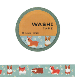 Girl of All Work Washi Corgis