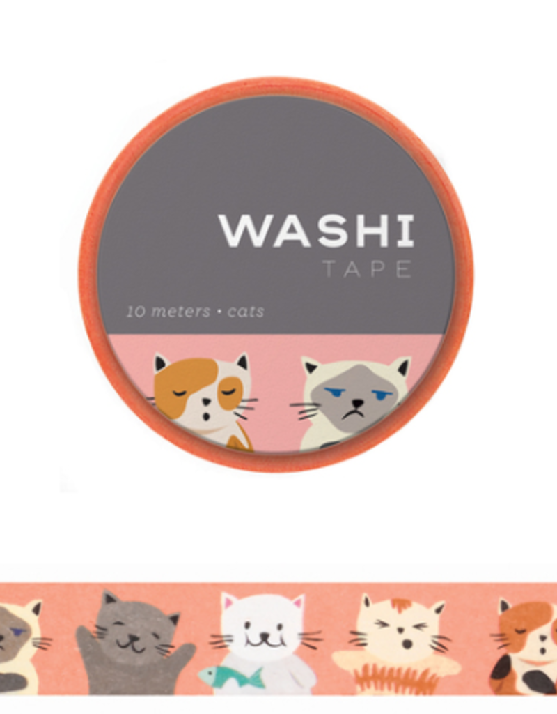 Girl of All Work Washi Cats