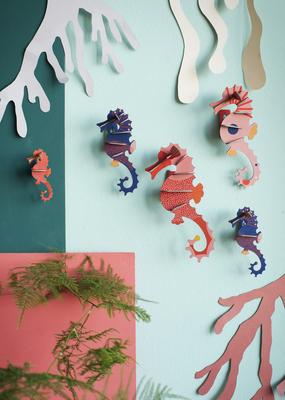 Studio Roof Wall Decoration Kit 5 Seahorses