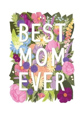 Alexis Mattox Design Die Cut Card Best Mom Ever