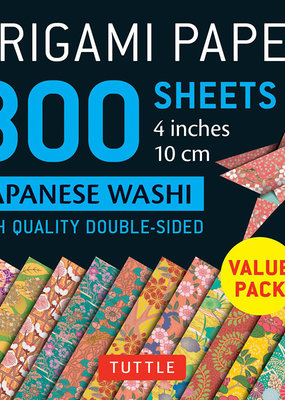 Tuttle Publishing Origami Paper Japanese Washi 4 Inch 300 Sheets