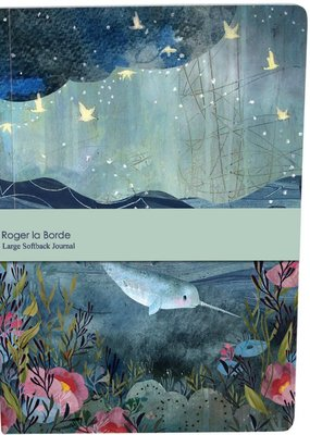 Roger La Borde Large Paperback Journal Narwhal Blank