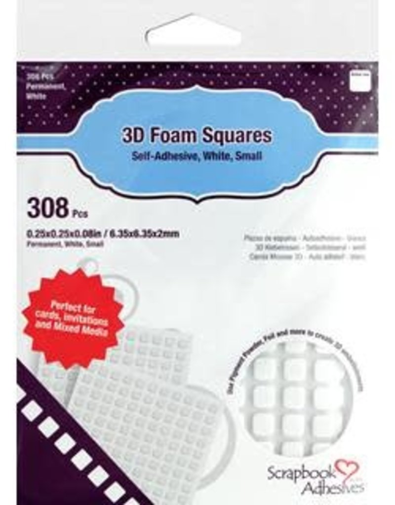 3L Scrapbook Adhesives 3D Foam Squares White