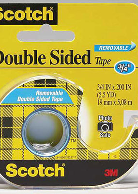 3M Tape Double Stick Removable .75 X 200 Inch