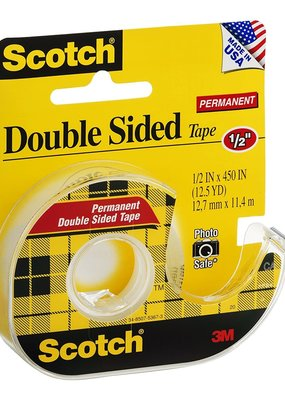 3M Scotch Tape Double Sided .5 x 450 Inch
