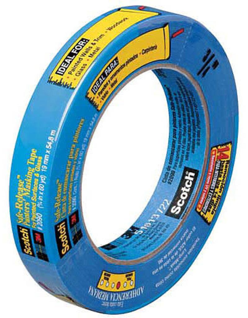 3M Painter's Masking Tape Blue .75 Inch X 60 Yds