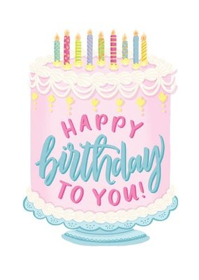 Alexis Mattox Design Die Cut Card Happy Birthday