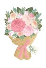 Alexis Mattox Design Die Cut Card For You Bouquet