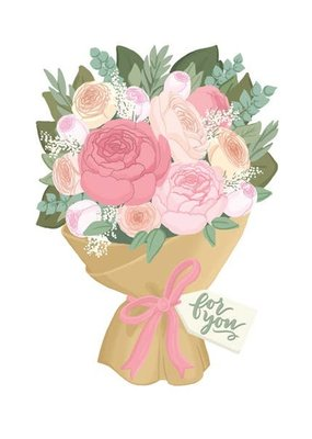 Alexis Mattox Design Die Cut Card For You Bouquet