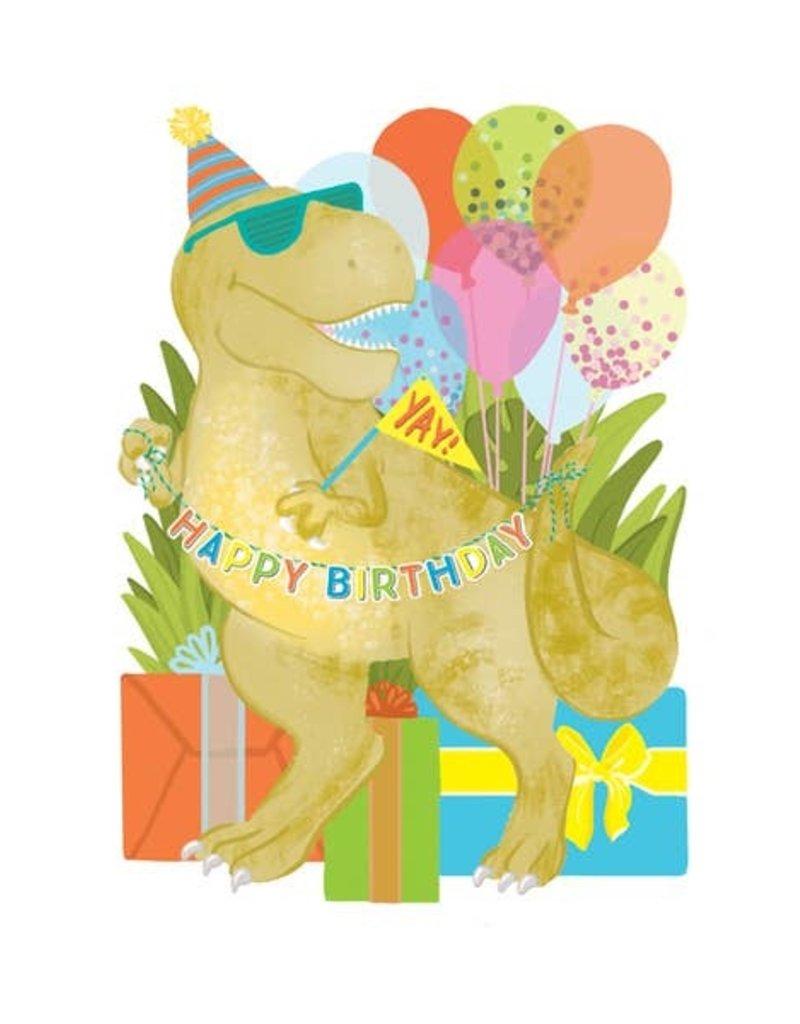 Alexis Mattox Design Die Cut Card Birthday Dino