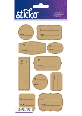 American Crafts Stickers To From Kraft Labels