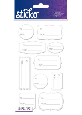 American Crafts Stickers To From Basic Labels