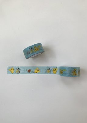 collage Washi Pikachu And Squirtle Blue