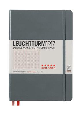 Leuchtturm Leuchtturm Medium Hardcover Red Dotted