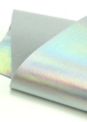 Barefoot Fibers Wool Felt 8x12 Sheet Holographic Silver