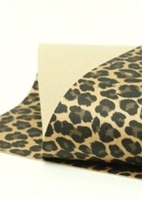 Barefoot Fibers Wool Felt 8x12 Sheet Leopard