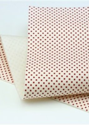 Barefoot Fibers Wool Felt 8x12 Sheet Red Dots on White
