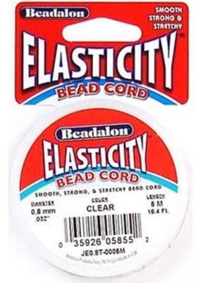 Beadalon Elasticity Beading Cord .8mm Clear 5 Meters