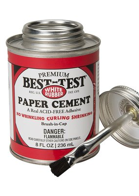 Best-Test Rubber Paper Cement 8 Ounce