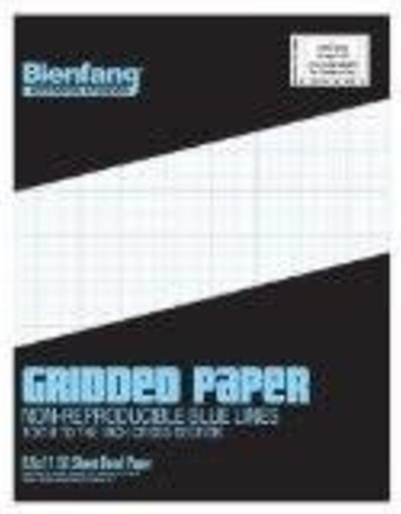 Bienfang Graph Paper Pad 10 X 10 Grid 8.5 X 11 50  Sheets