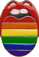 C & D Visionary Enamel Pin Rainbow Mouth