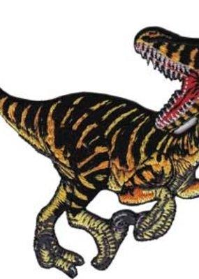 C & D Visionary Patch Striped Velociraptor Dinosaur