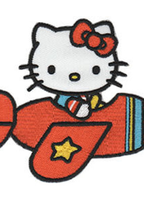 C & D Visionary Patch Hello Kitty Airplane