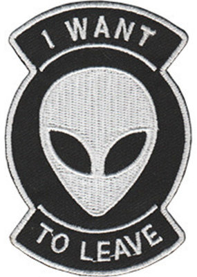 C & D Visionary Patch I Want To Leave Alien